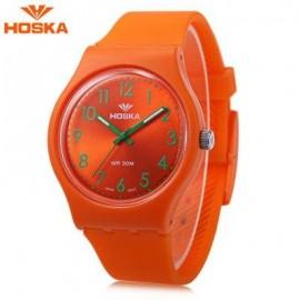 image of HOSKA H801B CHILDREN QUARTZ WATCH LUMINOUS 3ATM WRISTWATCH (ORANGE) 0
