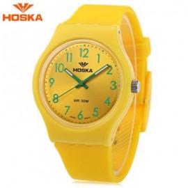 image of HOSKA H801B CHILDREN QUARTZ WATCH LUMINOUS 3ATM WRISTWATCH (YELLOW) 0