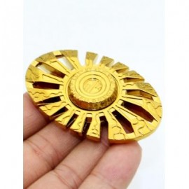 image of SUN GOD CUT OUT FINGER GYRO SPINNER FOCUS TOY (GOLDEN) -