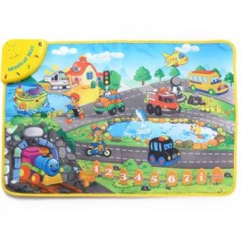 image of KIDS TRANSPORTATION SOUND LEARNING MUSICAL PLAY MAT TOY EDUCATIONAL SINGING CARPET (COLORMIX) -