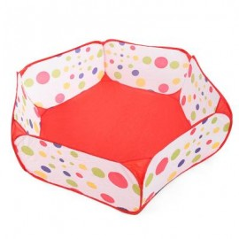 image of 1.5M OCEAN BALL PIT KIDS FOLDABLE POOL TENT INDOOR OUTDOOR SPORTS TOY (RED WITH WHITE) One Size