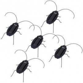 image of 5PCS SOLAR POWERED EDUCATIONAL INSECT VIBRATING COCKROACH TOY (BLACK) -