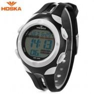 image of HOSKA H012S DIGITAL CHILDREN SPORT WATCH 5ATM STOPWATCH ALARM BACKLIGHT DATE DAY LED WRISTWATCH (WHITE) 0