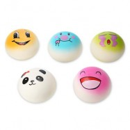image of 5PCS SQUISHY PU SPONGE SLOW RISING SIMULATE BREAD TOY (COLORMIX) -
