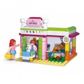 image of SLUBAN BUILDING BLOCKS EDUCATIONAL KIDS TOY PET SHOP 195PCS (MIXCOLOR) 0