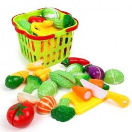image of HOUSE SMALL BASKET VEGETABLES TOY (COLORMIX) 0
