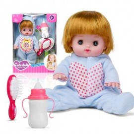 image of ELECTRIC VOICE BOTTLE DOLLS LAUGH CRY BABY GIRL TOYS (LIGHT BLUE) 0