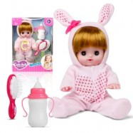 image of ELECTRIC VOICE BOTTLE DOLLS LAUGH CRY BABY GIRL TOYS (PINK + PRINT BRIEFS) 0