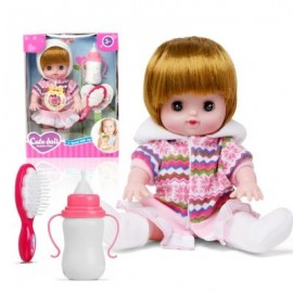 image of ELECTRIC VOICE BOTTLE DOLLS LAUGH CRY BABY GIRL TOYS (WHITE) 0