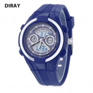 image of DIRAY DR - 211AD KIDS DIGITAL QUARTZ WATCH DATE DAY DISPLAY ALARM 30M WATER RESISTANCE WRISTWATCH (BLUE) 0