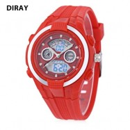 image of DIRAY DR - 211AD KIDS DIGITAL QUARTZ WATCH DATE DAY DISPLAY ALARM 30M WATER RESISTANCE WRISTWATCH (RED) 0