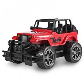 image of 1:24 VEHICLE REMOTE CONTROL CAR OFF-ROAD JEEP SUV TOY (RED) -