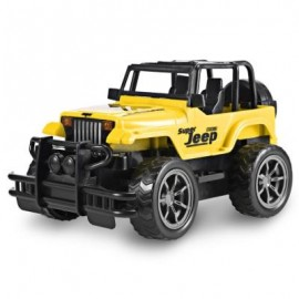 image of 1:24 VEHICLE REMOTE CONTROL CAR OFF-ROAD JEEP SUV TOY (YELLOW) -