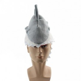 image of SHARK HAT PLUSH TOY GIFT (GRAY) 0