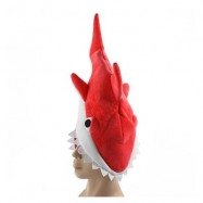 image of SHARK HAT PLUSH TOY GIFT (RED) 0