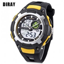 image of DIRAY DR - 323AD KIDS DUAL MOVT WATCH DATE DAY DISPLAY BACKLIGHT STOPWATCH ALARM 3ATM WRISTWATCH (YELLOW) 0