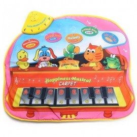 image of KIDS ANIMAL SOUND SINGING PIANO CARPET LEARNING EDUCATIONAL MUSICAL PLAY MAT TOY (COLORMIX) -
