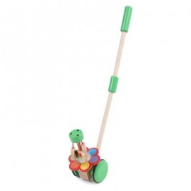image of WOODEN WALKER EARLY EDUCATIONAL HAND PUSH TOY FOR TODDLER (COLORMIX) -