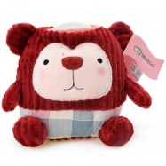 image of METOO KIDS CUTE NOVELTY CARTOON LED LIGHT LAMP COTTON DOLL TOY (DEEP RED) -