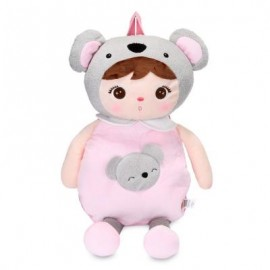 image of METOO CUTE ANJELA PLUSH DOLL BAG KOALA BACKPACK FOR KIDS GIRLS (PINK) -