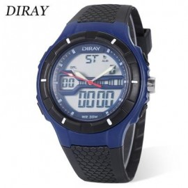image of DIRAY DR - 333AD CHILDREN DUAL MOVT WATCH DATE DAY DISPLAY BACKLIGHT STOPWATCH ALARM 3ATM WRISTWATCH (BLUE) 0