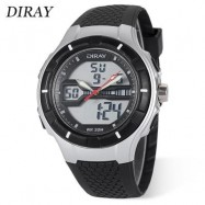 image of DIRAY DR - 333AD CHILDREN DUAL MOVT WATCH DATE DAY DISPLAY BACKLIGHT STOPWATCH ALARM 3ATM WRISTWATCH (SILVER) 0