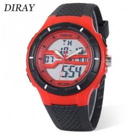 image of DIRAY DR - 333AD CHILDREN DUAL MOVT WATCH DATE DAY DISPLAY BACKLIGHT STOPWATCH ALARM 3ATM WRISTWATCH (RED) 0