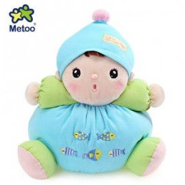 image of METOO STUFFED PLUSH DOLL TOY BIRTHDAY CHRISTMAS GIFT FOR BABY (LAKE BLUE) -