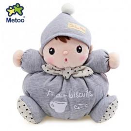 image of METOO STUFFED PLUSH DOLL TOY BIRTHDAY CHRISTMAS GIFT FOR BABY (LIGHT GRAY) -
