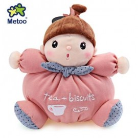 image of METOO STUFFED PLUSH DOLL TOY BIRTHDAY CHRISTMAS GIFT FOR BABY (PINK) -