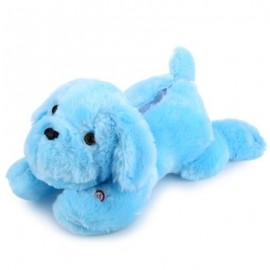 image of STUFFED CUTE FLASHING DOG PLUSH DOLL TOY GIFT FOR BABY (BLUE) -