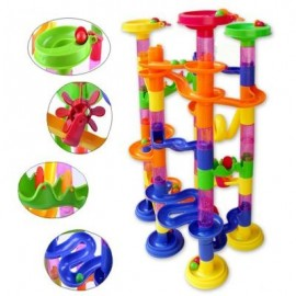 image of DELUXE MARBLE RACE GAME MARBLE RUN PLAY SET 105PCS DEVELOPING (COLORMIX) -