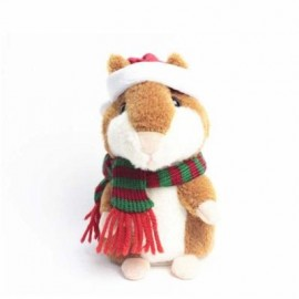image of TALKING HAMSTER MOUSE EDUCATIONAL TOY RECORDING REPEATS WHAT YOU SAY (BROWN) 0