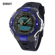 image of DIRAY DR - 320AD KIDS DIGITAL QUARTZ WATCH DATE DAY DISPLAY ALARM 30M WATER RESISTANCE WRISTWATCH (BLUE) 0