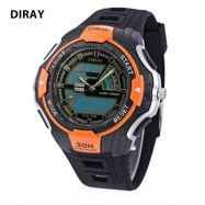 image of DIRAY DR - 320AD KIDS DIGITAL QUARTZ WATCH DATE DAY DISPLAY ALARM 30M WATER RESISTANCE WRISTWATCH (SWEET ORANGE) 0
