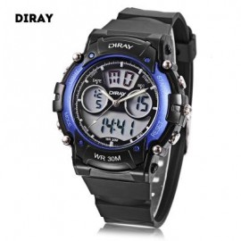 image of DIRAY DR - 330AD CHILDREN DUAL MOVT SPORTS WATCH DATE DAY DISPLAY BACKLIGHT STOPWATCH ALARM 3ATM WRISTWATCH (BLUE) 0