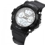 DIRAY DR - 330AD CHILDREN DUAL MOVT SPORTS WATCH DATE DAY DISPLAY BACKLIGHT STOPWATCH ALARM 3ATM WRISTWATCH (BLACK) 0