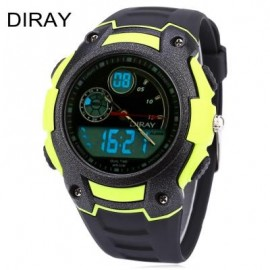 image of DIRAY DR - 327AD CHILDREN DIGITAL QUARTZ WATCH DATE DAY DISPLAY ALARM 30M WATER RESISTANCE WRISTWATCH (YELLOW) 0