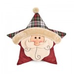 STUFFED CHRISTMAS SOFT PILLOW STAR SHAPE PLUSH DOLL TOY GIFT DECORATION (COLORMIX) SANTA CLAUS