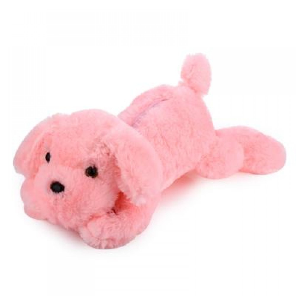STUFFED CUTE FLASHING DOG PLUSH DOLL TOY GIFT FOR BABY (PINK) One SIze