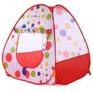 image of CHILDREN FOLDING OCEAN BALL GAME HOUSE PORTABLE OUTDOOR INDOOR TOY TENT PLAYHUT (RED) -