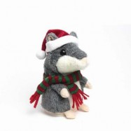 image of TALKING HAMSTER MOUSE EDUCATIONAL TOY RECORDING REPEATS WHAT YOU SAY (GRAY) 0