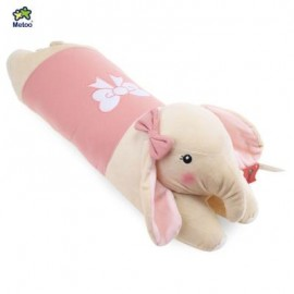 image of METOO STUFFED ELEPHANT PLUSH DOLL TOY CUSHION PILLOW CHRISTMAS GIFT (SHALLOW PINK) -