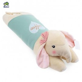 image of METOO STUFFED ELEPHANT PLUSH DOLL TOY CUSHION PILLOW CHRISTMAS GIFT (LIGHT GREEN) -