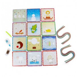 image of STICKY ROLLED PAPER PAINTING EDUCATIONAL DIY TOY FOR CHILDREN (COLORFUL) -