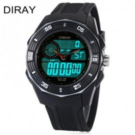 image of DIRAY DR - 301AD KIDS DIGITAL QUARTZ WATCH DATE DAY DISPLAY ALARM 50M WATER RESISTANCE WRISTWATCH (SILVER) 0