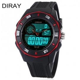 image of DIRAY DR - 301AD KIDS DIGITAL QUARTZ WATCH DATE DAY DISPLAY ALARM 50M WATER RESISTANCE WRISTWATCH (RED) 0