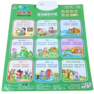 image of BABY BUMP SOUND WALL CHARTS BOTH ENGLISH CHINESE PRONUNCIATION EARLY EDUCATIONAL CHILD TOY (GREEN, TANG POETRY) Tang Poetry