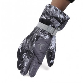 image of WILD SNOW PAIRED OUTDOOR WARM WINDPROOF SKIING GLOVES (GRAY) XL