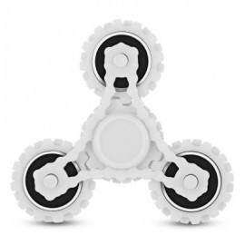 image of FOUR GEAR ROTATING TRILATERAL PATTERN ABS HAND SPINNER TOY (WHITE) -